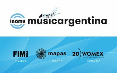 El Instituto Nacional de la Música de Argentina convoca ayudas de promoción internacional para participar en MAPAS 2020